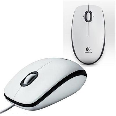 Logitech M100 Kablolu Optik Mouse Beyaz 910-005004