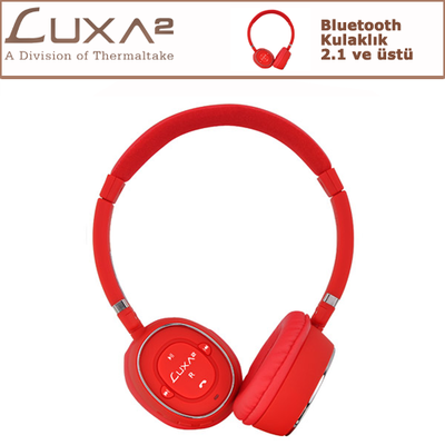 LUXA2 Bluetooth Kulaklık - Kırmızı (LHA0049)