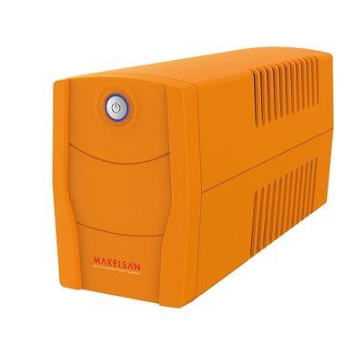 MAKELSAN 650va 360w Lion Plus LineInteractive LED Ekran 5/10 dk Turuncu 1x 12v 7amper