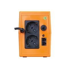MAKELSAN - MAKELSAN 850va 480w Lion Plus LineInteractive LED Ekran 5/10 dk Turuncu 1x 12v 9amper