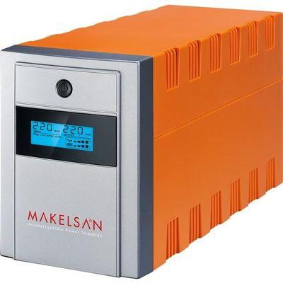 MAKELSAN LION X 1500 VA LCD/USB (2x12V 9AH Akü ) Line Interactive 5/10 dk UPS