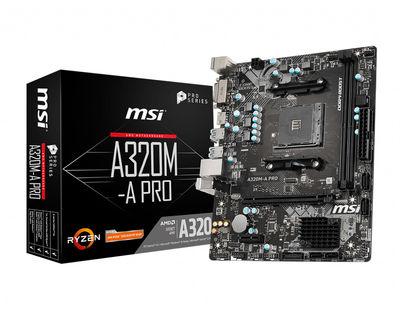 MSI A320M-A PRO AM4 DDR4 3200(OC) DVI HDMI USB3.2 mATX