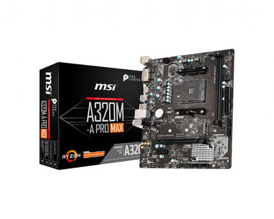 MSI A320M-A PRO MAX AM4 DDR4 3200(OC) DVI HDMI M.2 USB3.2 Matx
