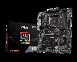 MSI - MSI B450-A PRO MAX AM4 DDR4 3466(OC) VGA DVI HDMI M.2 USB3.1 ATX