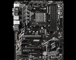 MSI B450-A PRO MAX AM4 DDR4 3466(OC) VGA DVI HDMI M.2 USB3.1 ATX - Thumbnail