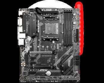 MSI B450 TOMAHAWK MAX AM4 DDR4 3466(OC) DVI HDMI M.2 USB3.2 RGB ATX