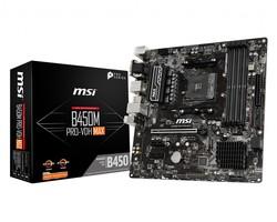 MSI - MSI B450M PRO-VDH MAX AM4 DDR4 3866(OC) 4xDIMM DVI HDMI VGA GLAN M.2 USB3.2 mATX