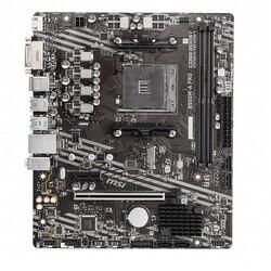 MSI - MSI B550M-A PRO DDR4 M2 PCIe NVME HDMI DVI PCIe 16X v4.0 AM4 mATX