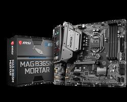MSI MAG B365M MORTAR SOKET 1151 DDR4 2666 HDMI M.2 USB3.1 COM+LPT mATX WIN7 WIN10 - Thumbnail