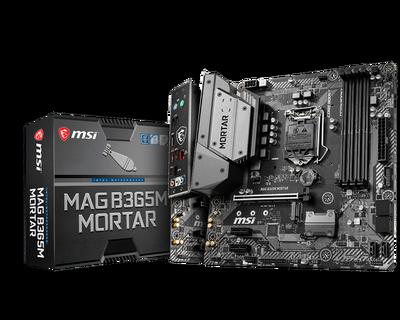 MSI MAG B365M MORTAR SOKET 1151 DDR4 2666 HDMI M.2 USB3.1 COM+LPT mATX WIN7 WIN10