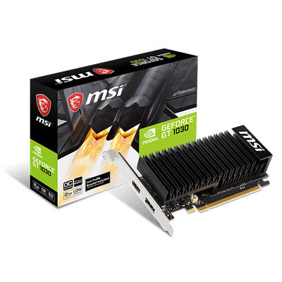 MSI VGA GeForce GT 1030 2GHD4 LP OC GT1030 2GB DDR4 64b DX12 PCIE 3.0 x16 (1xHDMI 1xDVI)