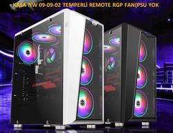 NW - Nw 09-09-02 Temperli Uzaktan Kumandalı RGB Fan(Psu Yok) Atx Kasa