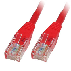 ODS - ODS 1m CAT6 Utp LSZH Saf Bakır Kırmızı Patch Kablo