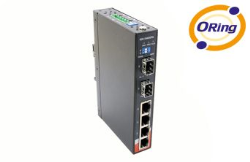 ORING - ORING (IGPS-1042GPA) 4PORT 10-100-1000 GIGABIT POE +2 PORT SFP 100-1000Base-X SWITCH