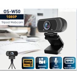OSMART - OSMART OS-W50 1080P * 2MP FULL HD USB PC Mikrofonlu Tripod Webcam