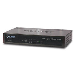 PLANET - PLANET 5 Port PL-GSD-503 10/100/1000 Mbps Gigabit Ethernet Yönetilemez Switch (Metal case)