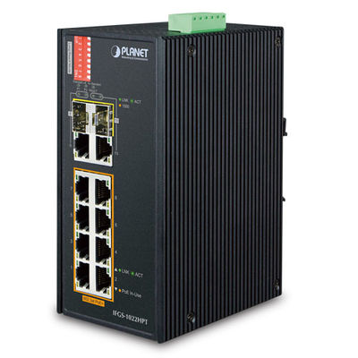 Planet PL-IFGS-1022HPT Endüstriyel Tip Yönetilemeyen PoE+ Switch (Industrial Unmanaged PoE+ Switch)