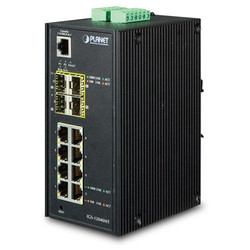 PLANET - Planet PL-IGS-12040MT Endüstriyel Tip Yönetilebilen Switch (Industrial Managed Switch)