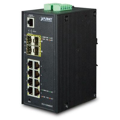 Planet PL-IGS-12040MT Endüstriyel Tip Yönetilebilen Switch (Industrial Managed Switch)