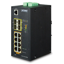 PLANET - Planet PL-IGS-5225-8P4S Endüstriyel Tip Yönetilebilir Ethernet Switch (Industrial Managed Ethernet Switch)