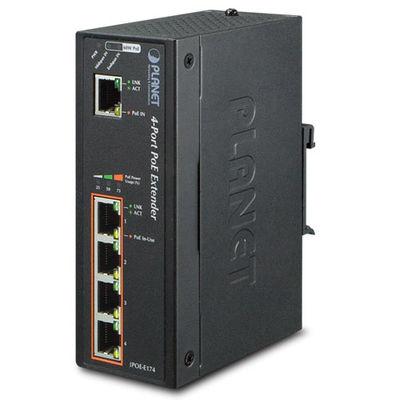 Planet PL-IPOE-E174 1-Port Ultra PoE to 4-Port 802.3af/at Gigabit PoE Extender