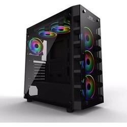 Power Boost - Power Boost X59RGB JBST-X59RGB-650 650W 80+ Tempered Glass 6 x RGB Fanlı Gaming Kasa