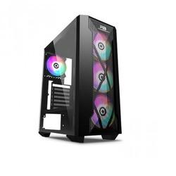 POWER BOOST - PowerBOOST mid Tower 500W Gaming VK-P1900B ATX PC Kasası Temperli Cam Siyah 4x 12cm RGB Fan