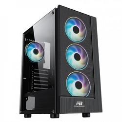 POWER BOOST - PowerBOOST mid Tower 500W Gaming VK-P3301B ATX PC Kasası Temperli Cam Siyah