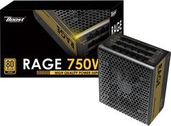 POWERBOOST - POWERBOOST RAGE BST-ATX750G 750w 80+ Gold Atx Power Supply 12 Cm Fan Full Modular Power Supply