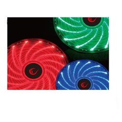 RAMPAGE 12cm JBT-15 Siyah 15x LED RGB Kasa Fanı 6pin - Thumbnail