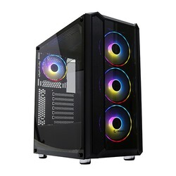 Rampage - Rampage HARDY 600W 80+ Bronze Siyah Tempered Glass Cam Gaming Kasa