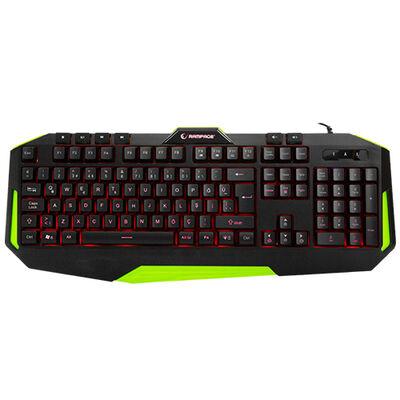 RAMPAGE KB-RX7 ALPOR Usb/Q Yeşil 3 Renk Aydınlatmalı Gaming Klavye