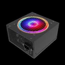 RAMPAGE - RAMPAGE RGB-500 500W 80Plus Bronze Siyah 12cm RGB LED Fanlı Power Supply