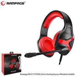 Rampage - Rampage Rm-X1 Python Gaming Mikrofonlu Kulaklık Siyah-Kırmızı