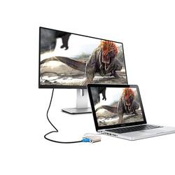 S-LINK 0.15metre SL-USB-C66 TYPE-C USB 3.0-VGA Çevirici Adaptör Gold 4K - Thumbnail