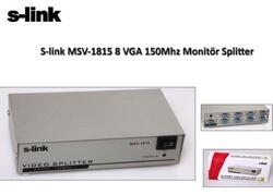 S-LINK - S-LINK MSV-1815 8 Port VGA Monitör Çoklayıcı (150 MHZ)