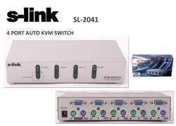 S-LİNK - S-link SL-2041 4pc-1mn vga+ps-2 Otomatik Kvm Switch