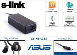 S-LINK - S-LINK SL-NBA215 19V 2.37A 4.0*1.5 Asus Ultrabook Adaptör