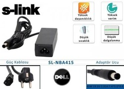 S-LINK - S-LINK SL-NBA415 19.5V 2.31A 7.4*5.0 Dell Notebook Adaptörü