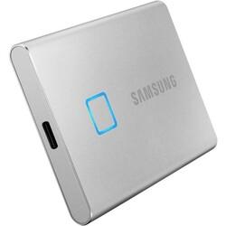 SAMSUNG 500GB T7 Touch USB 3.2 Flash SSD Gümüş (MU-PC500SWW) - Thumbnail
