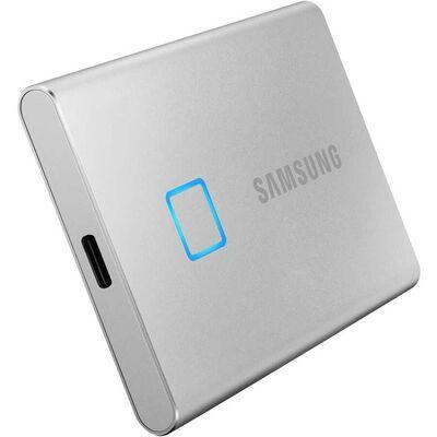 SAMSUNG 500GB T7 Touch USB 3.2 Flash SSD Gümüş (MU-PC500SWW)
