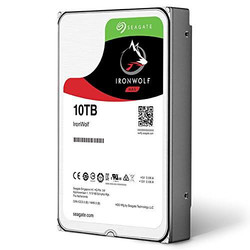 SEAGATE - SEAGATE IRONWOLF 10 TB 7200RPM SATA3 256MB 210MB/S RV 180TB/Y NAS(ST10000VN0008)