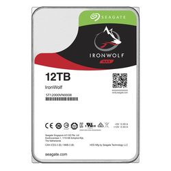 SEAGATE - SEAGATE IRONWOLF 12 TB 7200RPM SATA3 256MB 210MB/S 180TB/Y NAS (ST12000VN0008)