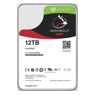 SEAGATE IRONWOLF 12 TB 7200RPM SATA3 256MB 210MB/S 180TB/Y NAS (ST12000VN0008)