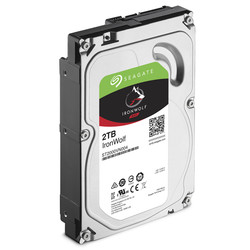 SEAGATE - SEAGATE IRONWOLF 2 TB 5900RPM SATA3 64MB 180MB/S 180TB/Y NAS (ST2000VN004)
