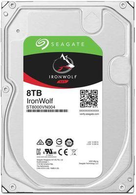 SEAGATE IRONWOLF 8 TB 7200RPM SATA3 256MB 210MB/S RV 180TB/Y(ST8000VN004)