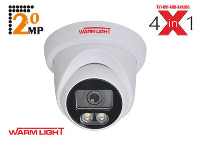 Spy Sp-6020D-FW 2mp 3.6mm 3500K Warm Light Ahd Plastik Kasa Dome Kamera