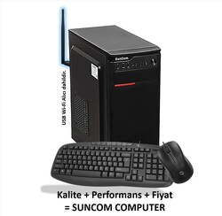 SUNCOM - SUNCOM 4341316-512-W i3-4130 16GB 512GB SSD onb DOS Wi-Fi Masaüstü PC