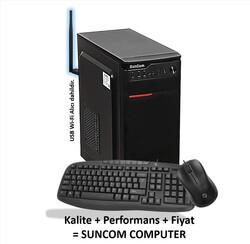 SUNCOM - SUNCOM 434138-240-W i3-4130 8GB 240GB SSD onb DOS Wi-Fi Masaüstü PC