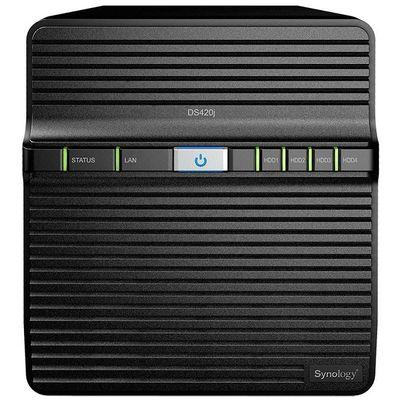 SYNOLOGY 4x DS420J Realtek DC 1.4ghz 1gb Glan USB 3.0 Raid Nas Server (Disksiz) (64tb Kapasite) 2x IP Kamera Desteği